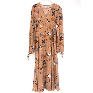 Urban Outfitters floral maxi wrap dress L